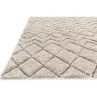 Nisha Global Grey Beige Diamond Tuft Wool Jute Rug - 4x6 ...
