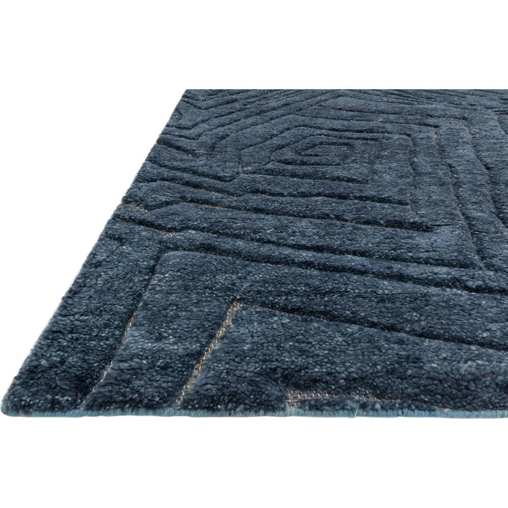 Tatu Coastal Modern Navy Blue Wool Jute Rug  4x6  Kathy