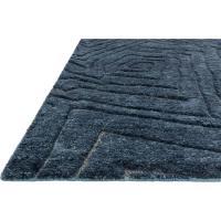 Tatu Coastal Modern Navy Blue Wool Jute Rug - 4x6 | Kathy ...