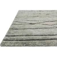 Tawi Industrial Green Branch Tuft Wool Jute Rug - 4x6 ...