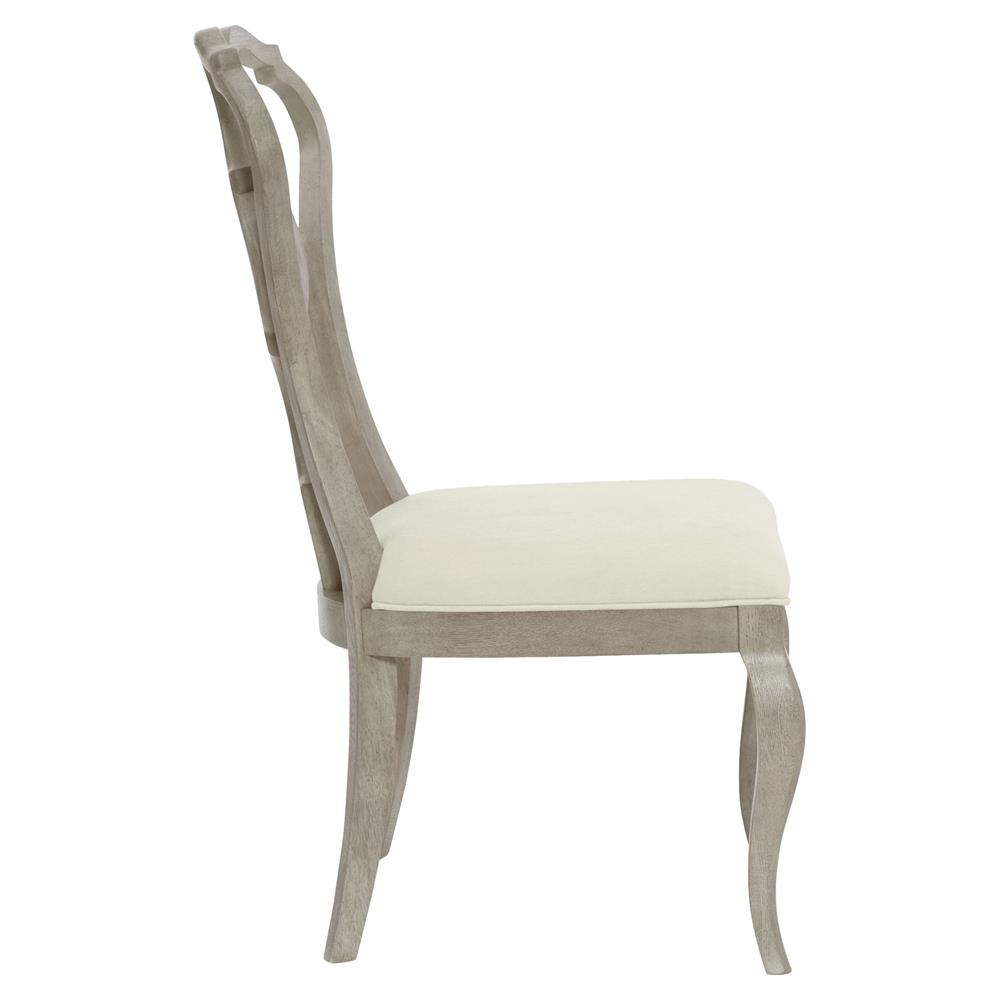 Michaela French Country Wood Upholstered Dining Side Chair