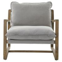Antonia Rustic Lodge Grey Pillow Brown Wood Living Room ...