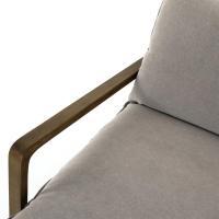 Antonia Rustic Lodge Grey Pillow Brown Wood Living Room