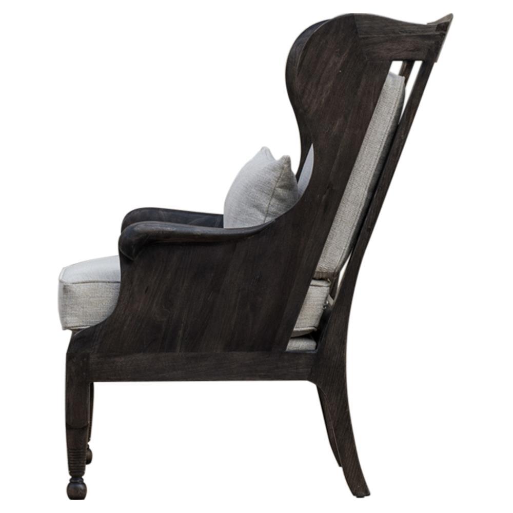Turner Rustic Lodge Dark Wood High Back Chair