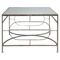 Peg Regency Ornate Silver Iron Coffee Table