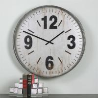 Industrial Loft Antique Silver Rustic Wall Clock