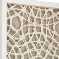 Coastal Modern Abstract Paper Framed Wall Art - I | Kathy ...
