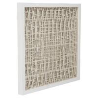 Coastal Modern Abstract Paper Framed Wall Art - III ...