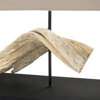 Coastal Beach Wide Natural Driftwood Table Lamp