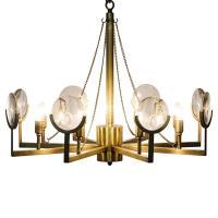 Abigale Modern Antique Brass Chandelier Frame Mirrored ...