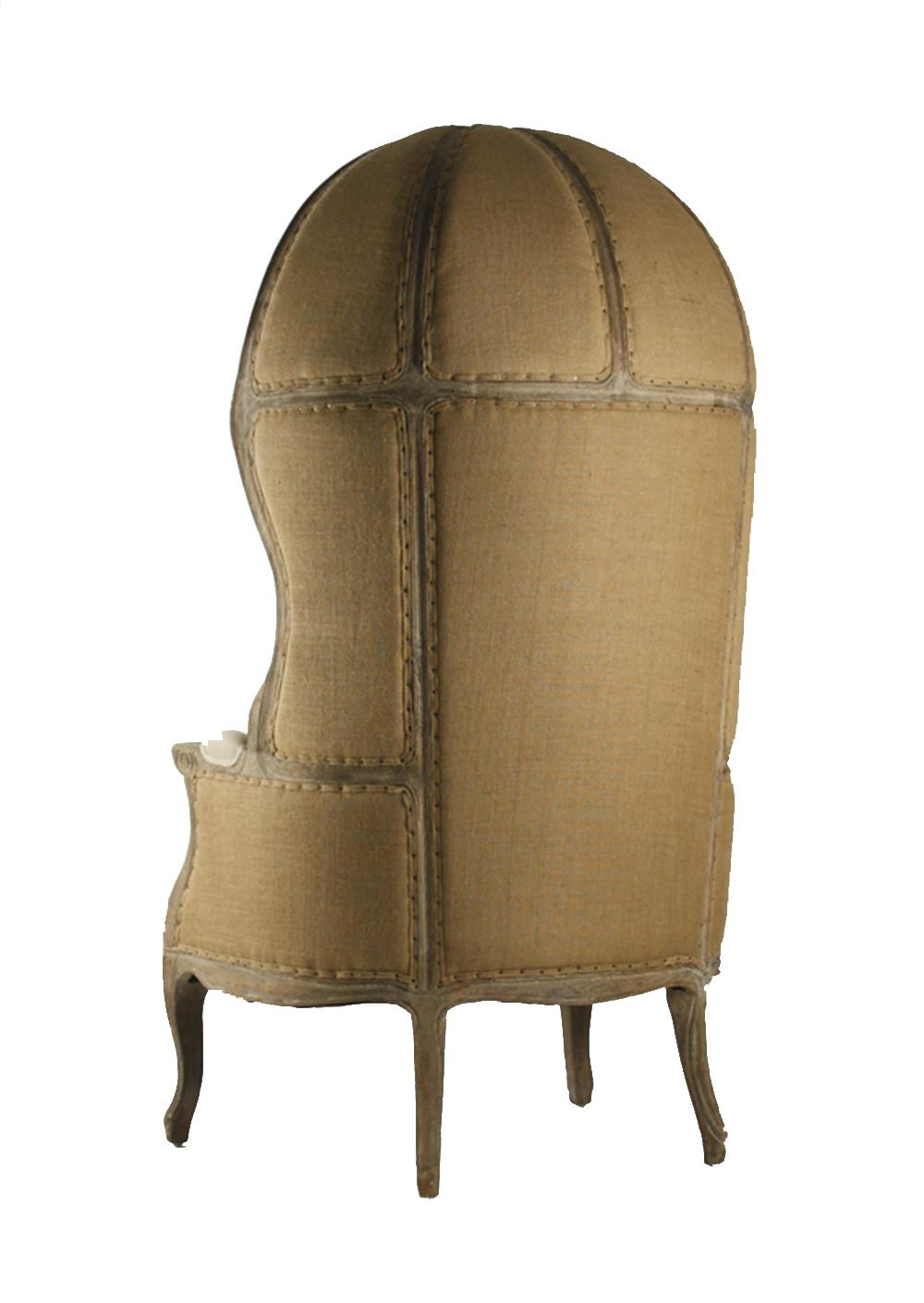 french canopy chair yoga headstand leonide limed grey oak linen balloon kathy kuo view full size