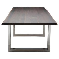 Stainless Steel Kitchen Table Mission Style Cabinets Zinnia Industrial Brown Oak Dining 78w