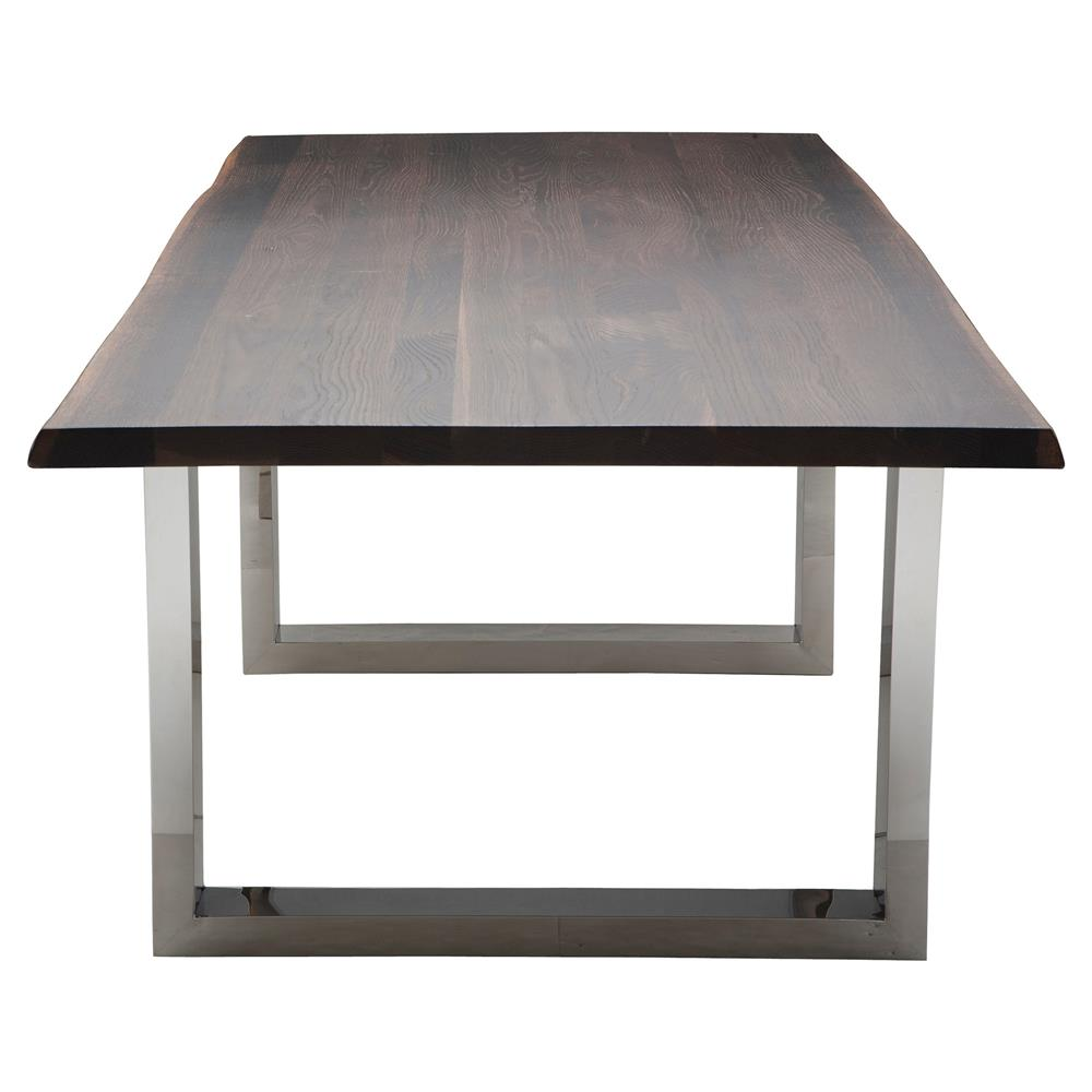 steel kitchen table red light shades zinnia industrial brown oak stainless dining 78w