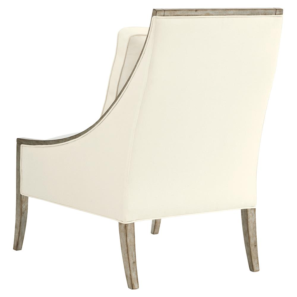 Elva Regency Antique Silver Leaf Ivory Chair  Kathy Kuo Home