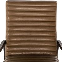 Elkan Mid Century Camel Leather Brown Armchair | Kathy Kuo ...