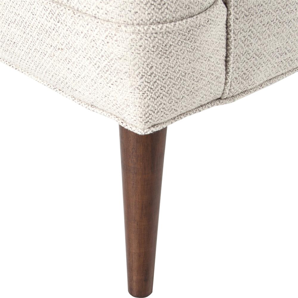 Shanna Mid Century Modern Classic Beige Upholstered Wing