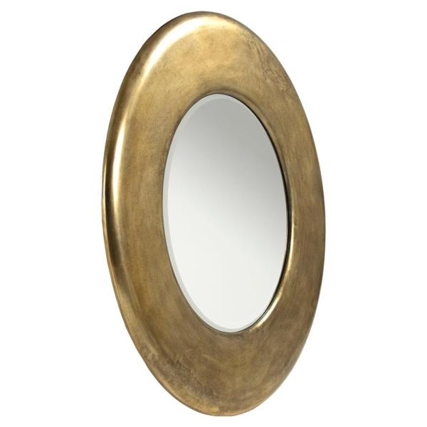 Antique Brass Round Mirror