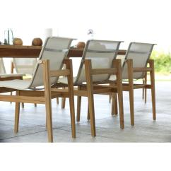 Sling Chair Outdoor Stakmore Folding Chairs Vintage Summer Classics Coast Teak Canvas Side Kathy Kuo Home