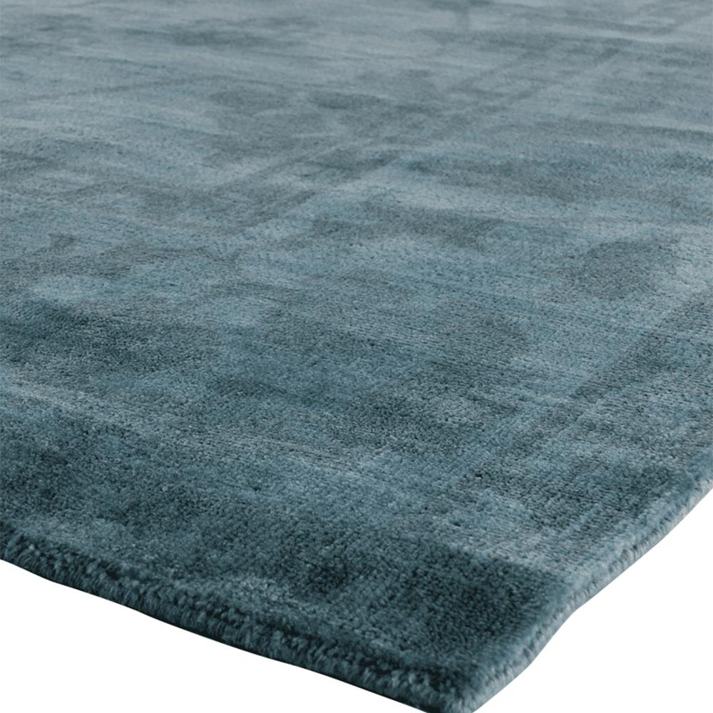 Exquisite Rugs Paoli Bazaar Overdyed Teal Blue Wool Rug  8x10