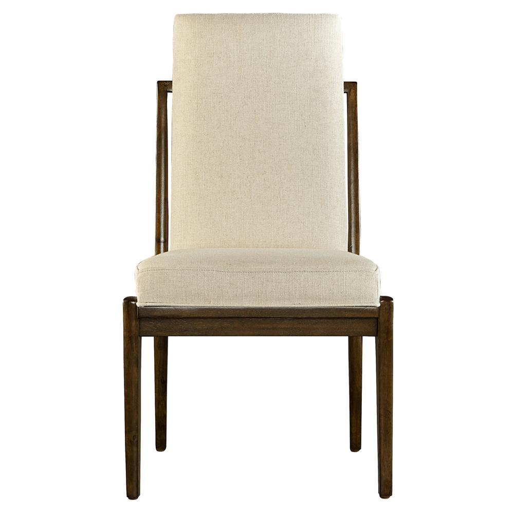 Tara Modern Classic Cushioned Back Linen Upholstered