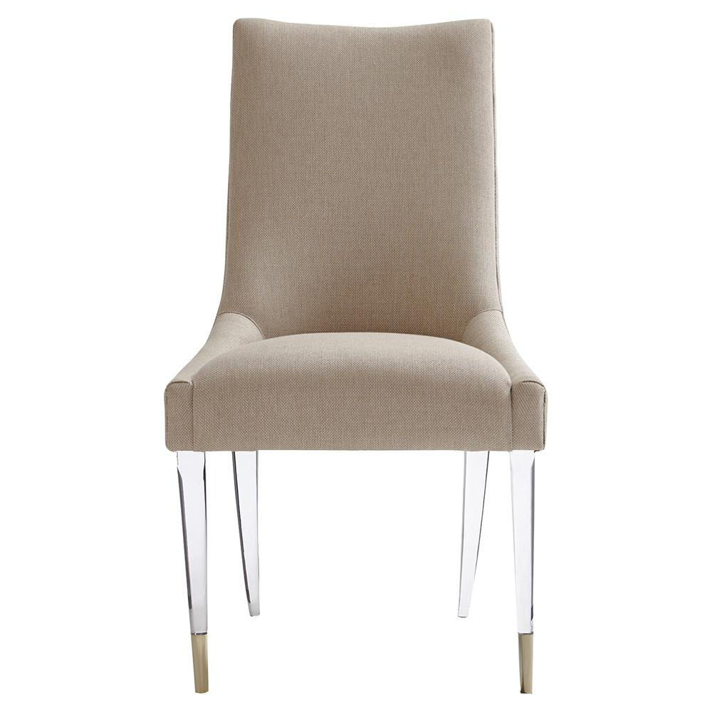 Selena Modern Classic Acrylic Upholstered Taupe Dining Chair