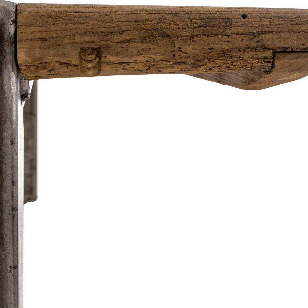 Iveson Industrial Loft Reclaimed Wood Silver Iron Coffee