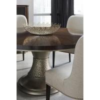 Goode Modern Classic Dark Wood Bronze Resin Round Pedestal ...