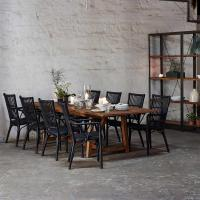 Natalia Coastal Beach Black Rattan Living Room Chair