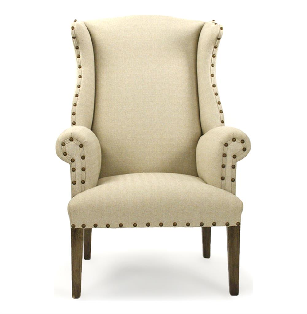 country style wingback chairs kids ottoman chair wing back home design ideas french linen nail head accent armchair kathy kuo