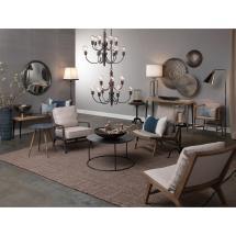 Myra Modern Classic White Silk Shade Silver Metal Table Lamp