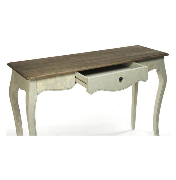 French Country Rochelle Narrow Curved Leg Console Table Kathy Kuo Home
