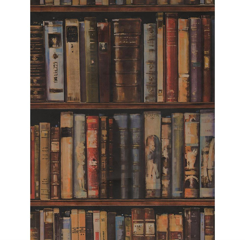Wall Of Books Library Wallpaper Multi 2 Rolls Kathy Kuo Home