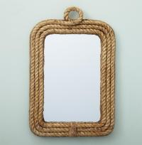 Clippers Bay Nautical Raw Jute Rope Wall Mirror | Kathy ...
