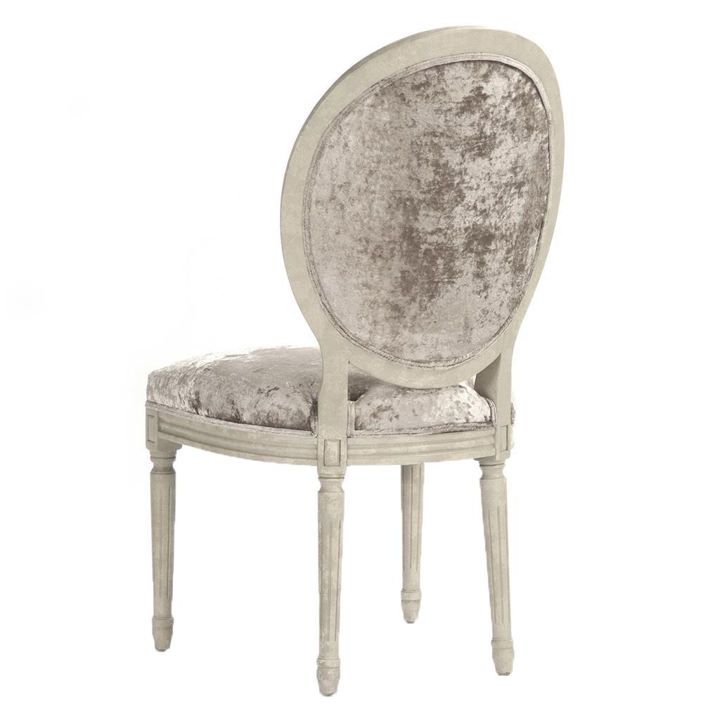 french velvet chair shoprider power madeleine country oval dining side kathy kuo home