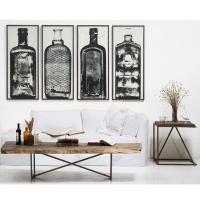 Copper River Industrial Loft Bottle Black White Photo Wall ...