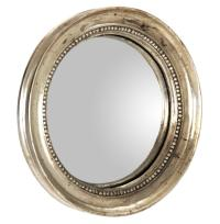 Julian Antique Gold Champagne Small Round Convex Mirror