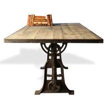 Monterrey Industrial Loft Iron Reclaimed Wood Adjustable
