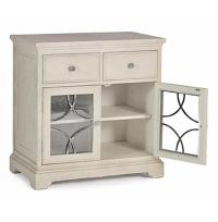 Leigh French Country Grey Wood Storage Bar Cabinet | Kathy ...