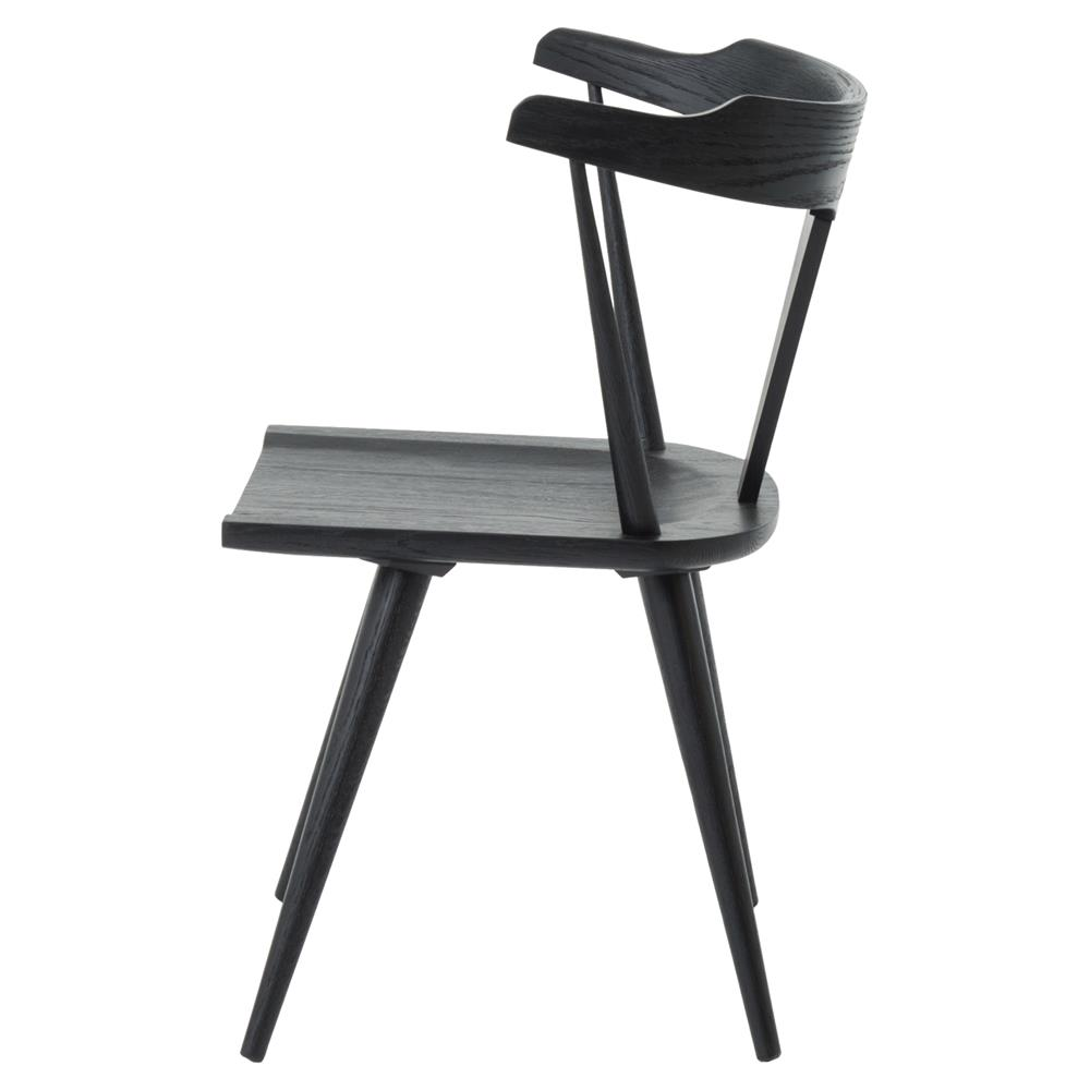 mid century barrel dining chair how to build chairs tenly modern black oak back kathy kuo home