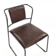 Leather Dining Chairs Modern Two Seater Rattan Table And Artemis Mid Century Industrial Rustic Iron Chair Kathy Kuo Home