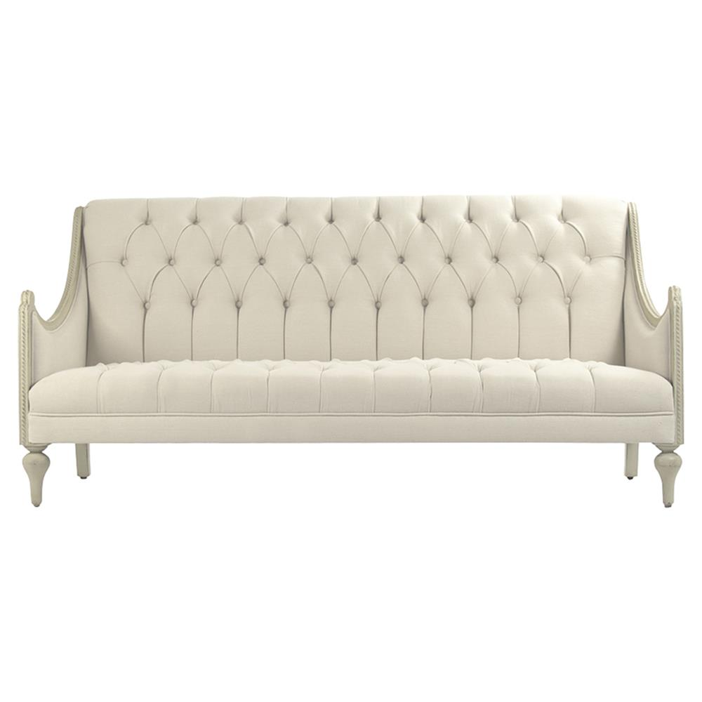 french linen tufted sofa small double bed mattress topper livia country grey wash cream cotton dining view full size