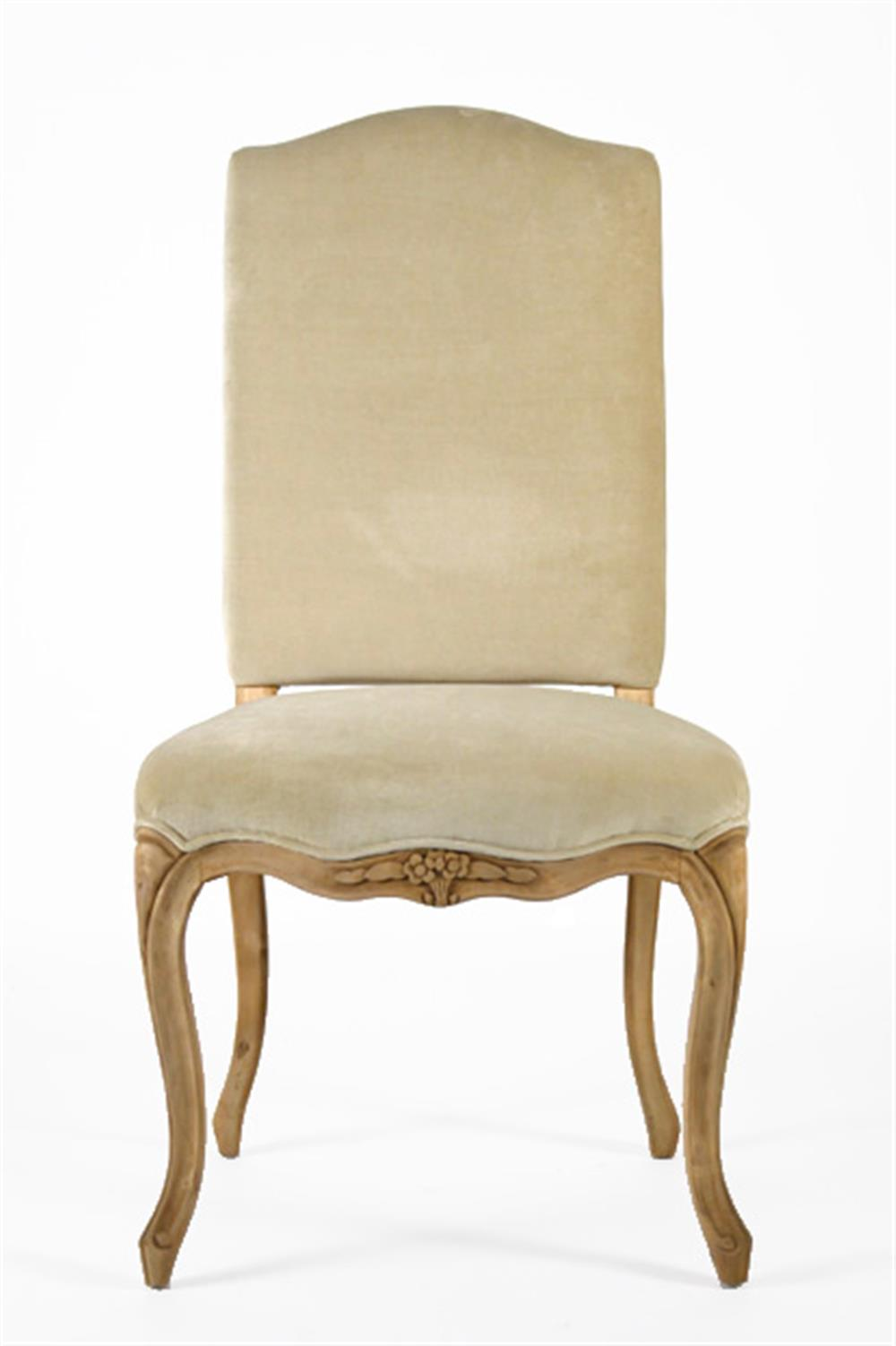 Light Gold Taupe Velvet French Country Style Cathy Dining