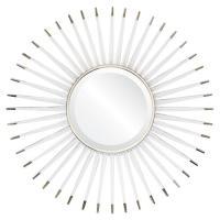 Livvie Hollywood Regency Acrylic Silver Sunburst Mirror ...