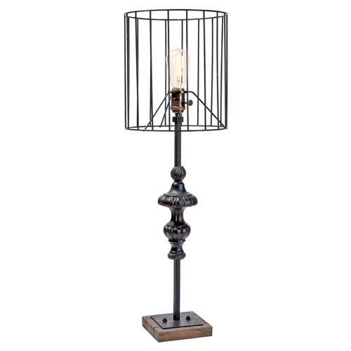 Eckley Industrial Loft Rustic Narrow Wire Table Lamp