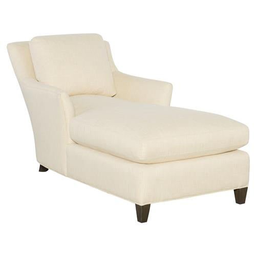 cr laine studio modern classic white upholstered black wood chaise lounge