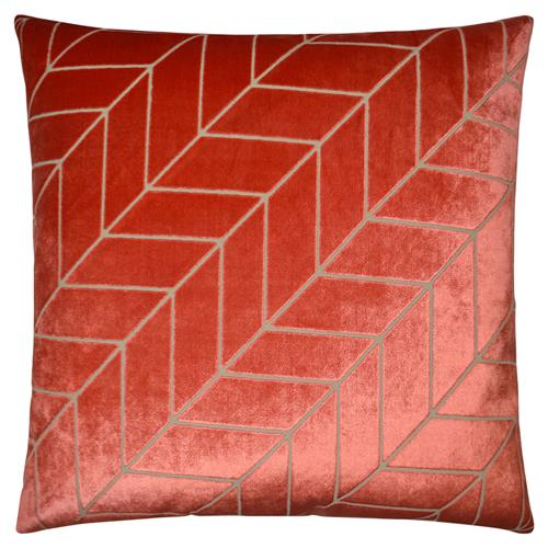 mason modern classic square coral feather down pillow 20 x 20