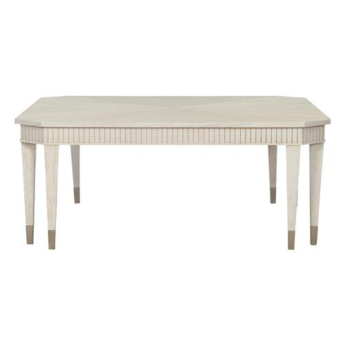 audrey french country white oak square coffee table