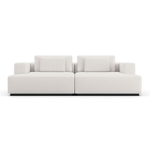modloft spruce modern white chalk upholstered double chaise sectional sofa