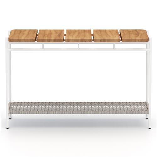 baron modern white aluminum outdoor console table