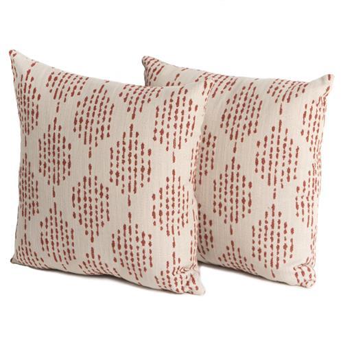 eva modern classic red diamond pattern outdoor throw pillows set of 2